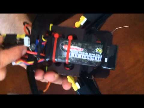 multicopter tricopter with hobbyking  kk control board - rc helicopter multirotor