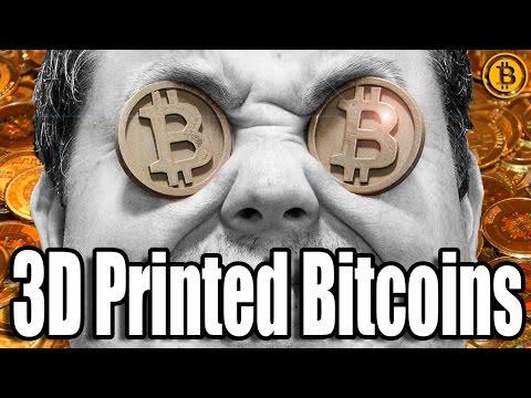 3D Printing & Polishing Metal Bitcoins Printed W/ ColorFabb Bronzefill