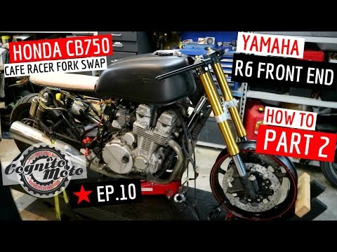 How to Fit an R6 Front End to A ★ Honda Cafe Racer CB750 - Part 2