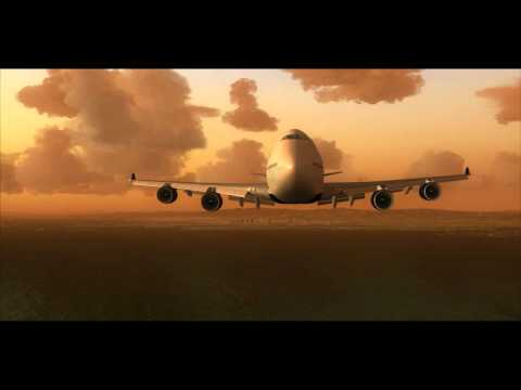 Delta Airlines B747 Newark to San Francisco - REX FS recorder HD