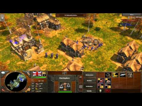 Age of Empires III - Neuengland - Briten gegen Deutsche - Multiplayer Gameplay [Deutsch/HD]