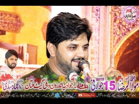 Zakir Aamar Mehdi I Jashan 15 July 2019 I Best Qasida Imam Raza a.s I