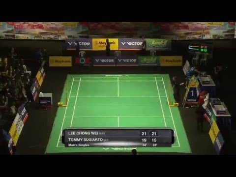 Victor Far East Malaysia Masters 2016 | Badminton SF M5-MS | Lee Chong Wei Vs Tommy Sugiarto