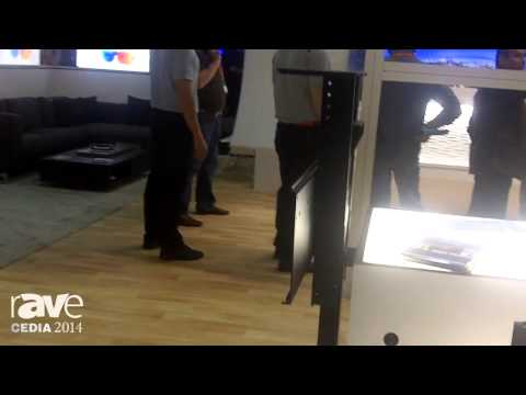 CEDIA 2014: Nexus21 Concealment Systems Demos Motorized TV Lift Model L-45