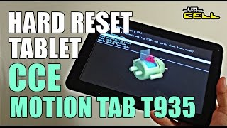 Hard Reset no Tablet CCE Motion Tab (T935)