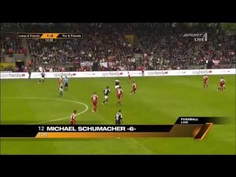 Michael Schumacher - Benefizspiel von Lukas Podolski & Per Mertesacker