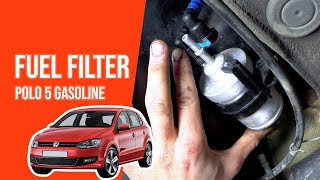 [ TUTORIAL GASOLINE VOLKSWAGEN POLO 5 ] How to change the fuel filter