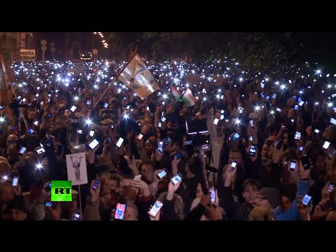 Free Internet! Thousands light up Budapest at rally against web tax