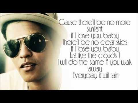 Bruno Mars - It Will Rain LYRICS.flv Music Videos