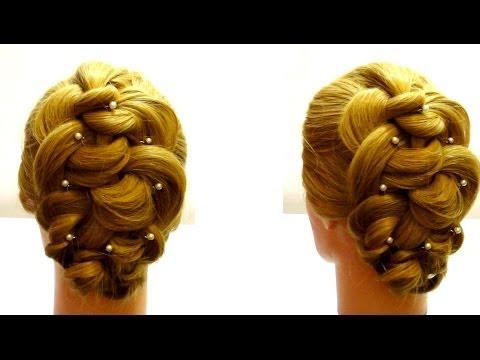 Прическа с плетением. Плетение кос. Braiding hair