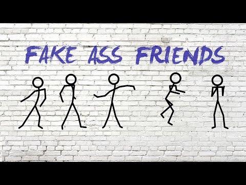 Dustin Atlas, Erin Bowman - Fake Ass Friends (Lyric Video)