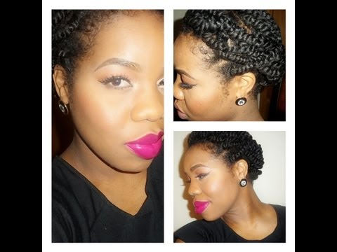 """natural hair"": EASY protective style FOR TWO STRAND TWIST"