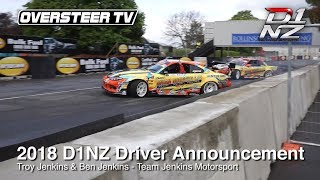 D1NZ Drifting: 2018 Driver Announcement #2 - Team Jenkins Motorsport