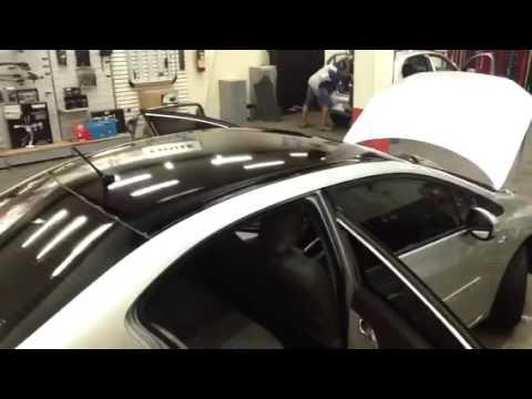 Civic novo 2012 2013 teto black Piano instalado na Auto330 acessórios.