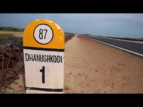 Road to Ram setu point Arichal munai Danushkodi - Rameshwaram to Dhanushkodi Rama sethu point Road