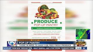 Pop-up pantry on Feb. 17 in West Palm Beach