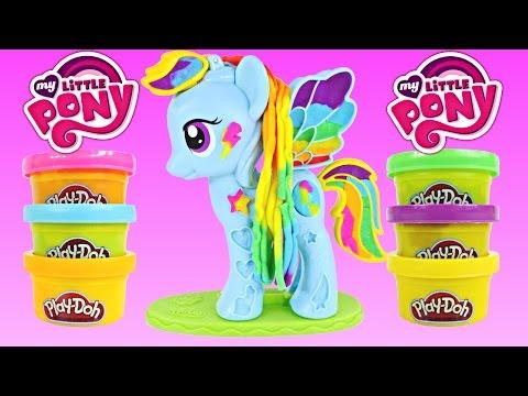 New Play Doh Rainbow Dash Style Salon My Little Pony Plastilina Salón Playdough Toys Dctc video