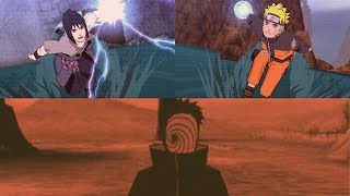 Naruto and Sasuke Vs Madara Uchiha / Tobi - Naruto shippuden ultimate ninja impact - final mission