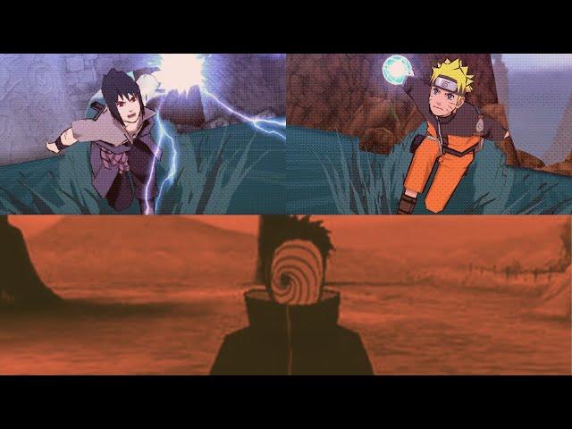 Naruto and Sasuke Vs Madara Uchiha / Tobi - Naruto shippuden ultimate ninja impact - final mission