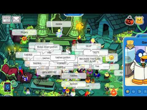Club Penguin: I Meet Gary Halloween Party 2010