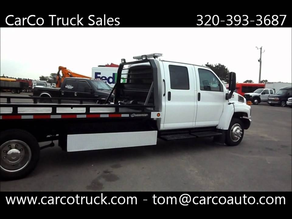 Chevrolet C4500 Crew Cab Rollback Tow Truck For Sale By