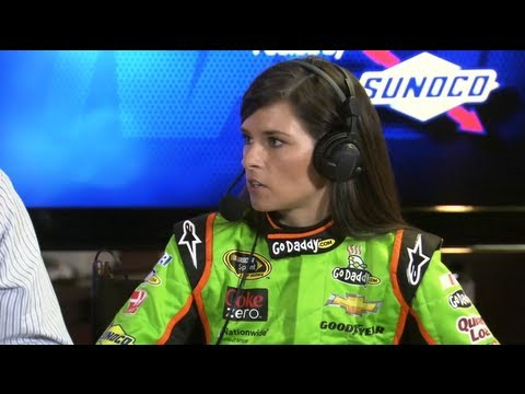 Danica Patrick gives interviewer a hard time