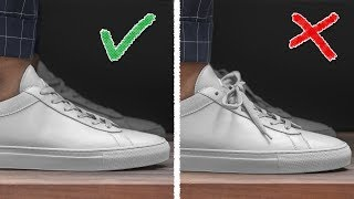 HOW TO HIDE YOUR LACES (Easy + Fast Shoelace Hack)