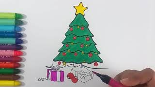 Coloring Christmas Tree, (Creative Kids), Coloring pages for kids