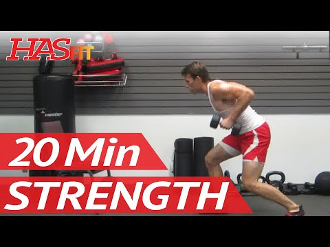#1 Home Strength Training Exercise Class | Dumbbell Exercises Workout | HASfit's Strength Workout Image 1