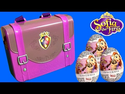 Sofia the First Royal Prep Academy Backpack Surprise with Pony Minimus & Disney Surprise Eggs NEW
