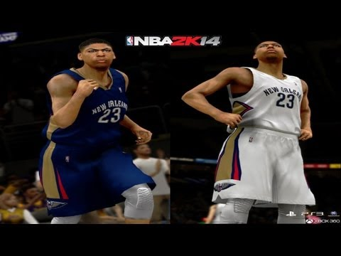 NBA 2K14 - Exclusive Screenshot of Anthony Davis in New Orleans Pelicans Uniforms For Current-Gen