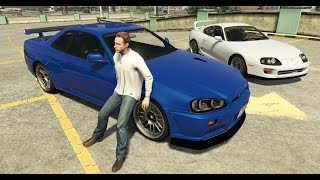 GTA 5 Paul Walkers R34 Skyline And Supra Fast And Furious Icons
