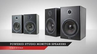 Powered Studio Monitor Speakers | Monoprice Quick Look