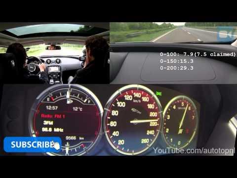 Jaguar XJ 2.0T 0-240 km/h NICE! Acceleration & Top Speed Run on Autobahn