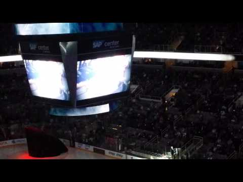 San Jose Sharks vs. Winnipeg Jets, team intro