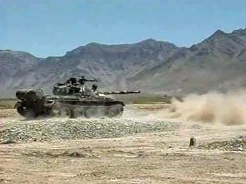 Afghan T 62 Tanks in Action