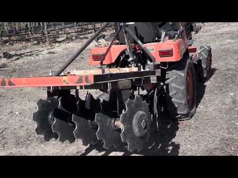 The Tractor Chronicles: Narrow Rows at Mathis Vineyard and Peter's Homebuilt Disc Harrow