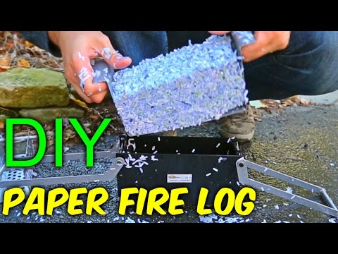 DIY Paper Fire Logs