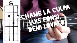 Download Lagu Ukulele Lesson - Échame La Culpa - Luis Fonsi, Demi Lovato (easy chords) Gratis STAFABAND