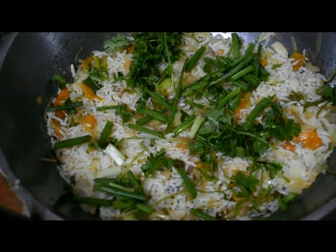 Carrot,Capsicum,Cabbage, Fried Rice in Tamil
