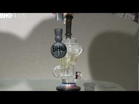 MotherShip Glass Klein Recycler with BHO FILMS Health Stone