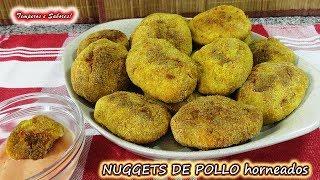 NUGGETS DE POLLO HORNEADOS, saludables y deliciosos