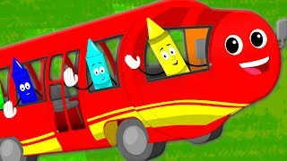 Wheels On The Bus   Nursery Rhymes Songs For Children   Bus Songs Video For Kids