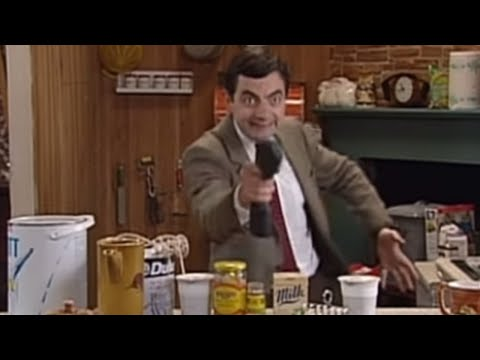 Mr Bean doing DIY