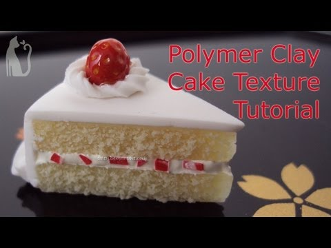 How to Make Cake Texture Polymer Clay Tutorial by Talty