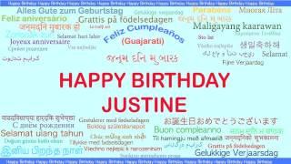 Justine   Languages Idiomas - Happy Birthday