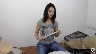 Emmanuelle Caplette: Drum Lesson Sextuplet Routine FREE (English 2016)
