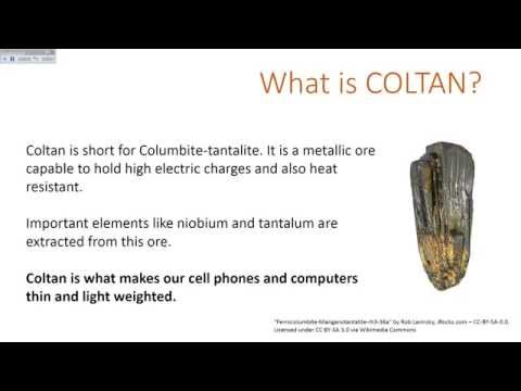 Life Cycle of Coltan - Why is Colombia a case of concern?
