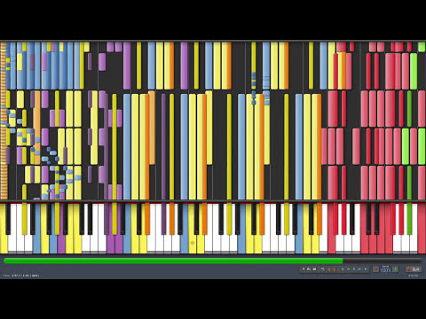 [Black MIDI] Synthesia - What does the Fox Say? 2 Million Notes - The Fox - Ylvis ~ Gingeas