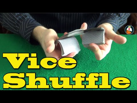 The VICE SHUFFLE - How to Shuffle Cards LIKE A PRO!!! New Card Tricks 2016 Tutorial
